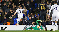 Goalkeeper Danijel Subasic of Monaco pulls off a late save from Son Heung-Min of Tottenham Hotspur during the UEFA Europa League group match between Tottenham Hotspur and Monaco at White Hart Lane, London, England on 10 December 2015. Photo by Andy Rowland.