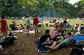 Brooklyn, New York<br /> USA<br /> July 4, 2011<br /> <br /> 4th of July celebration in Park Slope's Prospect Park, Brooklyn, New York.