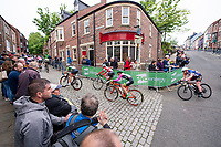 Picture by Allan McKenzie/SWpix.com - 22/05/2018 - Cycling - OVO Energy Tour Series Womens Race - Round 4 : Durham - The women's race heads up the cobbled climb at Durham.