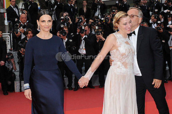 Juliette Binoche, Valeria Bruni Tedeschi and Fabrice Luchini at the &acute;Ma Loute` screening during The 69th Annual Cannes Film Festival on May 13, 2016 in Cannes, France.<br /> CAP/LAF<br /> &copy;Lafitte/Capital Pictures /MediaPunch ***NORTH AND SOUTH AMERICA ONLY***