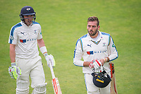 Picture by Allan McKenzie/SWpix.com - 06/09/2017 - Cricket - Specsavers County Championship - Yorkshire County Cricket Club v Middlesex County Cricket Club - Headingley Cricket Ground, Leeds, England - Yorkshire's Jack Leaning and Andrew Hodd scored a valuable century partnership against Middlesex on day two of their County Championship match.