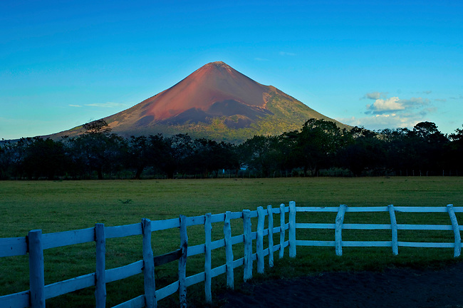 The active Momotombo Volcano in central Nicaragua.