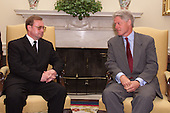United States President Bill Clinton Meets with Prime Minister Stephashin of Russia in the The Oval Office of The White House in Washington, DC on July 27, 1999.<br /> Mandatory Credit: : Ralph Alswang / White House via CNP