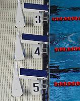 13 MAR 2006 - MELBOURNE, AUSTRALIA - Starting blocks - Commonwealth Games '06. (PHOTO (C) NIGEL FARROW)