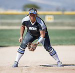 Western Nevada's Briauna Carter at the ready against Colorado North Western at Edmonds Sports Complex Carson City, Nev., on Friday, March 18, 2016.<br /> Photo by Jeff Mulvihill, Jr.