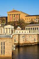 The Fairmount Water Works and art museum, Philadelphia, Pa, Pennsylvania, USA
