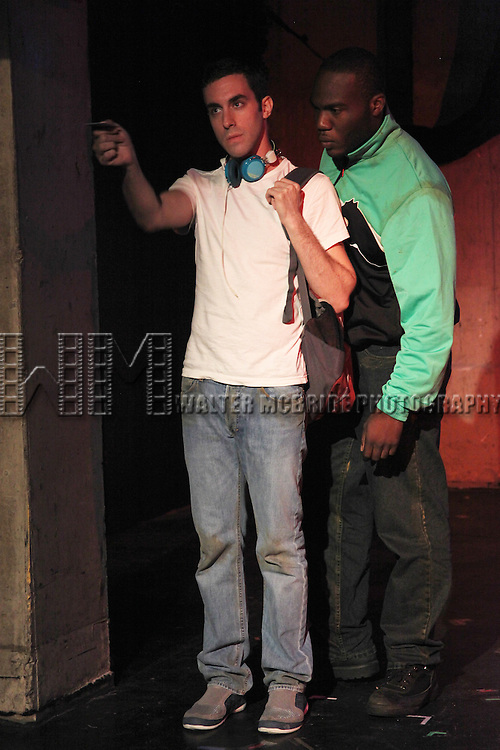 Dan Heching & Patrick Byas.starring in Dan Heching Presents 'Sammy Gets Mugged'.at the Living Theatre in New York City.