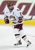 Joe Rooney of Canton, Massachusetts is one of two alternate captains for the Boston College Eagles.  The senior forward, son of former NHLer Steve Rooney, earned the James E. Tiernan Memorial Award as Most Improved player his junior season.  The Eagles of Boston College defeated the Falcons of Bowling Green State University 5-1 on Saturday, October 21, 2006, at Kelley Rink of Conte Forum in Chestnut Hill, Massachusetts.<br />