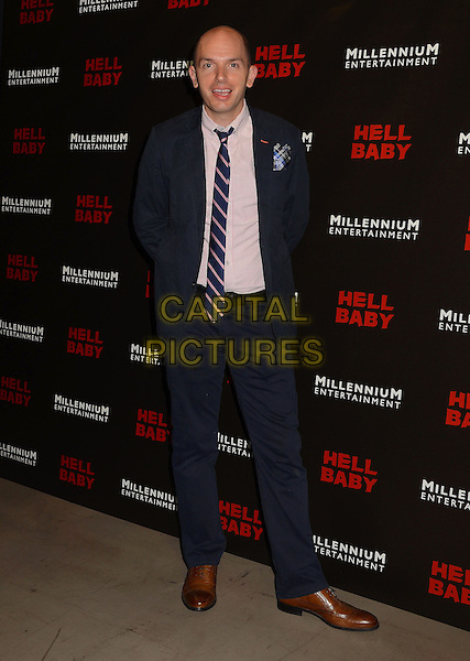 Paul Scheer<br /> Cast arrivals for the premiere of &quot;Hell Baby&quot; at the Chinese 6 Theater in Hollywood, Ca. <br /> August 19th, 2013<br /> full length blue suit pink shirt<br /> CAP/ADM/BT<br /> &copy;Birdie Thompson/AdMedia/Capital Pictures