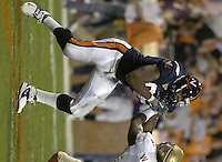 24 September 2005:  D'Brickashaw Ferguson (66)..The Virginia Cavaliers upset the #4 Florida State Seminoles 26-21 at Scott Stadium in Charlottesville, VA.