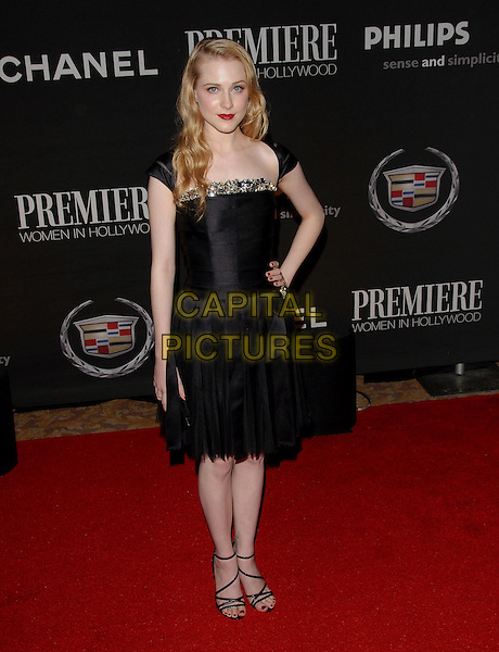 EVAN RACHEL WOOD.Attends The 13th Annual Premiere Women in Hollywood held at The Beverly Hills Hotel in Beverly Hills, California, USA, September 20th 2006..full length hand on hip black dress red lipstick.Ref: DVS.www.capitalpictures.com.sales@capitalpictures.com.©Debbie VanStory/Capital Pictures