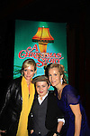 "Joe West, son of Maura West - As The World Turns' ""Carly"" and Young and Restless, makes his Broadway Debut as ""Ralphy"" in A Christmas Story The Musical and poses with his mom Maura and castmate Erin Dilly (mother in the play) (was on All My Children) on opening night after party at Lucky Strike on November 19, 2012 at the Lunt-Fontaine Theatre, New York City, New York where the musical is. (Photo by Sue Coflin/Max Photos)"