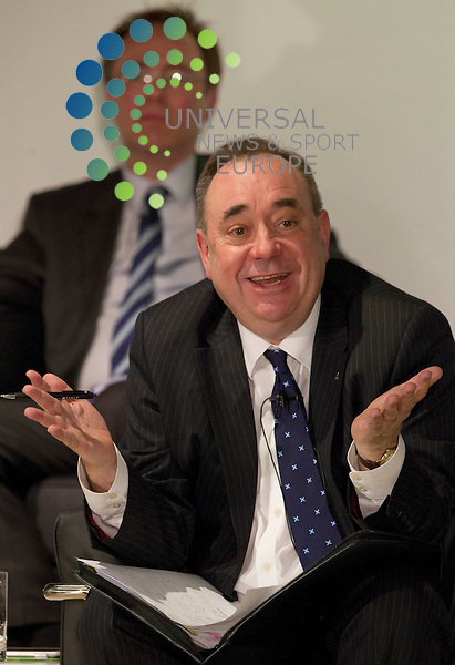 First Minister Alex Salmond  holds a public discussion on Scottish independence in the Volunteer Rooms in Irvine after the Scottish Goverment held a Cabinet meeting in the town.Picture: Universal News And Sport (Scotland) 25 March 2014.
