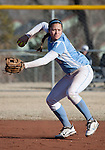 March 10, 2012:   San Diego Toreros shortstop Kylie Ordos against the Nevada Wolf Pack during their NCAA softball game played as part of the The Wolf Pack Classic at Christina M. Hixson Softball Park on Saturday in Reno, Nevada.
