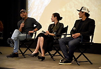 "WEST HOLLYWOOD - NOVEMBER 11: Tim McGraw, Elizabeth Chai Vasarhelyi, and Jimmy Chin attend a screening of National Geographic's ""Free Solo"" at Pacific Design Center on November 11, 2018 in West Hollywood, California. (Photo by Frank Micelotta/National Geographic/PictureGroup)"