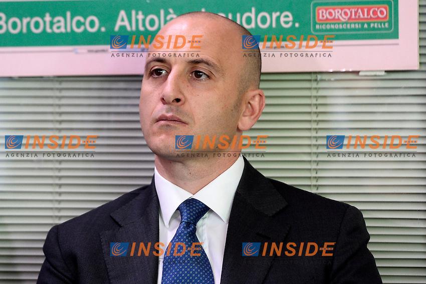 Piero Ausilio<br /> Appiano Gentile (Co) 06/06/2013 <br /> Football Calcio 2013/2014<br /> presentazione nuovo allenatore F.C. Inter <br /> foto Daniele Buffa/Image Sport/Insidefoto