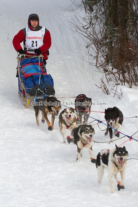 2010 Iditarod Re-start in Willow Alaska musher # 21 RAMEY SMYTH
