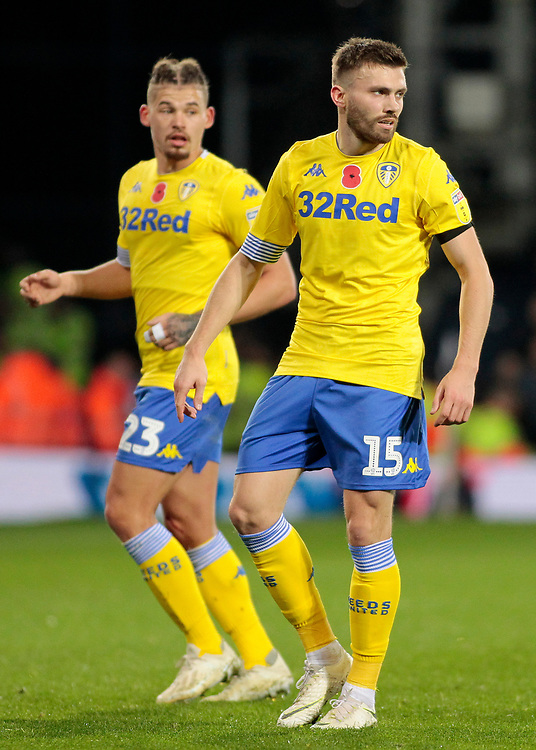 Leeds United's Stuart Dallas in action<br /> <br /> Photographer David Shipman/CameraSport<br /> <br /> The EFL Sky Bet Championship - West Bromwich Albion v Leeds United - Saturday 10th November 2018 - The Hawthorns - West Bromwich<br /> <br /> World Copyright © 2018 CameraSport. All rights reserved. 43 Linden Ave. Countesthorpe. Leicester. England. LE8 5PG - Tel: +44 (0) 116 277 4147 - admin@camerasport.com - www.camerasport.com