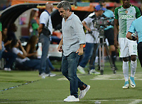MEDELLIN- COLOMBIA - 23 - 07 - 2017: Juan Manuel Lillo director técnico del Atlético Nacional durante su encuentro contra el Deportes Tolima , durante partido entre Atlético Nacional y Deportes Tolima, de la fecha 4 por la Liga Aguila II 2017 en el estadio Atanasio Girardot  de Medellín. / Juan Manuel Lillo coach  of Atletico Nacional  during match agaisnt of Deportes Tolima , during a match of the date 4nd for the Liga Aguila II 2017 at the Atanasio Girardot Stadium in Medellin  city. Photo: VizzorImage  / León Monsalve / Cont.