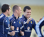 Don Cowie, Kenny Miller and Gary Caldwell having a laugh