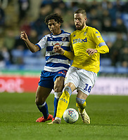 Reading's Danny Loader (left) battles with Leeds United's Pontus Jansson (right)  <br /> <br /> Photographer David Horton/CameraSport<br /> <br /> The EFL Sky Bet Championship - Reading v Leeds United - Tuesday 12th March 2019 - Madejski Stadium - Reading<br /> <br /> World Copyright &copy; 2019 CameraSport. All rights reserved. 43 Linden Ave. Countesthorpe. Leicester. England. LE8 5PG - Tel: +44 (0) 116 277 4147 - admin@camerasport.com - www.camerasport.com