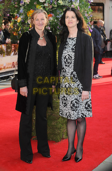 LONDON, ENGLAND - APRIL 13: Gail Egan and Andrea Calderwood attend the UK Premiere of A Little Chaos at Kensington Odeon on April 13, 2015 in London, England.<br /> CAP/BEL<br /> &copy;BEL/Capital Pictures