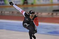 SCHAATSEN: SALT LAKE CITY: Utah Olympic Oval, 15-11-2013, Essent ISU World Cup, 500m, Gilmore Junio (CAN), ©foto Martin de Jong