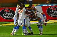 CÚCUTA- COLOMBIA, 03-04-2019:Ederson Moreno jugador del Deportivo Pasto celebra después de anotar un gol al Cúcuta Deportivo durante partido por la fecha 13 de la Liga Águila I  2019 jugado en el estadio General Santander de la ciudad de Cúcuta . /Ederson Moreno player of Deportivo Pasto celebrates after scoring the goal agaisnt of Cucuta Deportivo  during the match for the date 13 of the Liga Aguila I 2019 played at the General Santander  stadium in Cucuta  city. Photo: VizzorImage / Edgar Cusguen   / Contribuidor