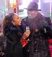 "NEW YORK - DECEMBER 31: Steve Harvey and Marjorie Elaine Harvey on ""FOX'S New Years Eve with Steve Harvey: Live From Times Square"" on December 31, 2018 in New York City. (Photo by Stephen Smith/Fox/PictureGroup)"