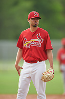 St. Louis Cardinals pitcher Arturo Reyes (36) during practice before a Minor League Spring Training game against the New York Mets on March 31, 2016 at Roger Dean Sports Complex in Jupiter, Florida.  (Mike Janes/Four Seam Images)