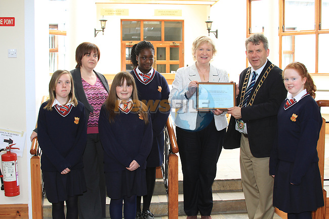 Sacred Heart School presentation of awards for Schools Litter Prevention Program with Mayor Michael O'Dowd.Picture Fran Caffrey/Newsfile.ie