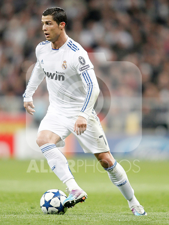 Real Madrid's Cristiano Ronaldo during Champions League match. March 16, 2011. (ALTERPHOTOS/Alvaro Hernandez)