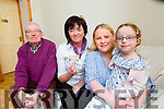 Little Clodagh O'Shea Killorglin with her mum Georgina, Teresa Lonergan and Connie Brosnan from the Irish Kidney Fondation who are thanking people for carrying donor cards