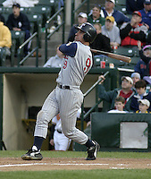 May 30, 2004:  Andy Barkett of the Toledo Mudhens during a game at Frontier Field in Rochester, NY.  The Mudhens are the Triple-A International League affiliate of the Detroit Tigers.  Photo By Mike Janes/Four Seam Images