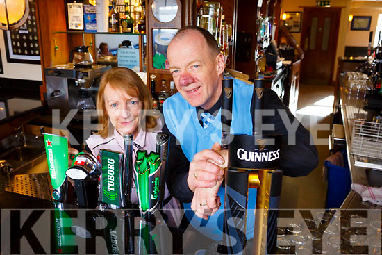 Tom and Eileen O'Shea who are retiring from the Kerins O'Rahilly's Charlie's Bar in Strand Road, Tralee after 30 years.
