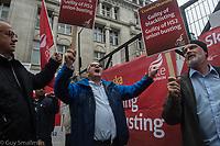 UNITE members protest HS2 site 4-10-19