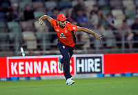 England's Lewis Gregory fields during the 4th Twenty20 International cricket match between NZ Black Caps and England at McLean Park in Napier, New Zealand on Friday, 8 November 2019. Photo: Dave Lintott / lintottphoto.co.nz