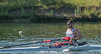 Caversham, Reading, . United Kingdom.  ASM M1X. Tom AGGAR,   GBRowing team, Media day for Paralympic  Team  to compete at the  2016 Rio Games.   Tuesday  19/07/2016,         [Mandatory Credit Peter Spurrier/Intersport Images]