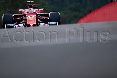 26th August 2017, Circuit de Spa-Francorchamps, Belgium; Belgium Grand Prix, Qualifying Session; Sebastian VETTEL from Germany  of Team Scuderia Ferrari, Ferrari SF70-H, Ferrari 062 engine entering to the pit lane