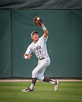 Mt. Carmel's Jason Gasser catches a long drive to center to end the third inning