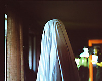 A Ghost Story (2017)<br /> Casey Affleck <br /> *Filmstill - Editorial Use Only*<br /> CAP/RFS<br /> Image supplied by Capital Pictures