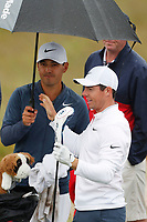 Rory McIlroy (NIR) waits to tee off on the 12th hole during the Wednesday practice round of the 118th U.S. Open Championship at Shinnecock Hills Golf Club in Southampton, NY, USA. 13th June 2018.<br /> Picture: Golffile | Brian Spurlock<br /> <br /> <br /> All photo usage must carry mandatory copyright credit (&copy; Golffile | Brian Spurlock)