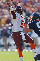 19 November 2005: Virginia Tech QB Marcus Vick (5)..The Virginia Tech Hokies defeated the Virginia Cavaliers 52-14 for the Commonwealth Cup at Scott Stadium in Charlottesville, VA.