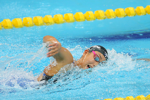 Chihiro Igarashi (JPN), <br /> SEPTEMBER 21, 2014 - Swimming : <br /> Women's 400m Freestyle Heat <br /> at Munhak Park Tae-hwan Aquatics Center <br /> during the 2014 Incheon Asian Games in Incheon, South Korea. <br /> (Photo by YUTAKA/AFLO SPORT) [1040]