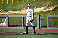 West Virginia Black Bears first baseman Will Matthiessen (59) during a NY-Penn League game against the Batavia Muckdogs on August 29, 2019 at Monongalia County Ballpark in Morgantown, New York.  West Virginia defeated Batavia 5-4 in ten innings.  (Mike Janes/Four Seam Images)