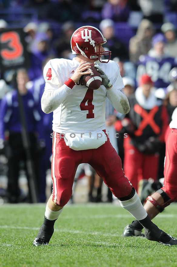 BEN CHAPPELL, of the Indiana Hoosiers in action during the Hoosiers game against the Northwestern Wildcats on October 24, 2009 in Evanston, IL. Northwestern won 29-28