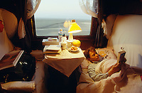 Sleeping compartment of the Marco Polo Express.