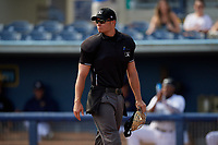 Umpire Dillon Wilson during a Florida State League game between the Palm Beach Cardinals and Charlotte Stone Crabs on April 14, 2019 at Charlotte Sports Park in Port Charlotte, Florida.  Palm Beach defeated Charlotte 5-3.  (Mike Janes/Four Seam Images)