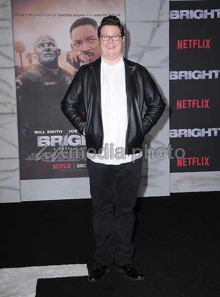 "13 December  2017 - Westwood, California - Cameron Britton. Netflix's ""Bright"" Los Angeles Premiere held at Regency Village Theatre in Westwood. Photo Credit: Birdie Thompson/AdMedia"