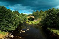 The Old Avon Bridge and the Avon Water, Chatelherault Country Park, Hamilton, South Lanarkshire
